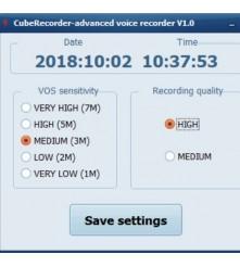 PC software za podešavanje kvalitete snimke za snimač CR-150