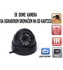 IR dome kamera, aktivacija na pokret, loop recording, datum i vrijeme na snimci, snimanje i po mraku