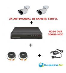 Komplet od dvije antivandal IR (dan/noć) kamere