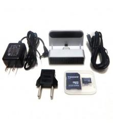 Punjač sa skrivenom wifi kamerom dolazi sa SD karticom od 16 GB i podržava SD kartice do 32 GB.