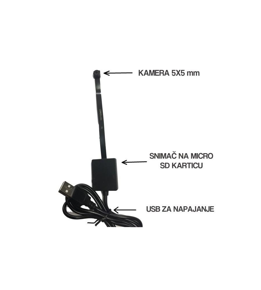 Mini SPY kamera pogodna za uradi sam postavljanje.